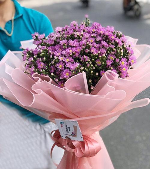Bó hoa thạch thảo
