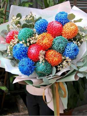 Bó hoa cúc mẫu đơn