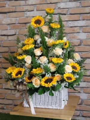 Giỏ hoa hướng dương