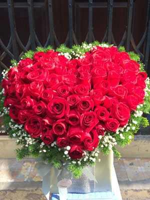 Hoa hình tim đẹp