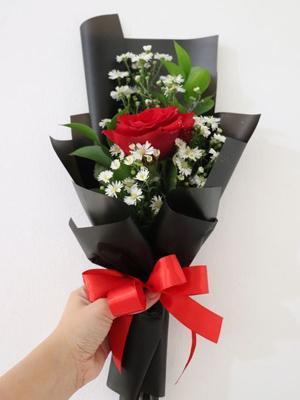 bó hoa hồng 1 bông