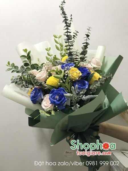 Mẫu hoa tặng vợ 8/3.