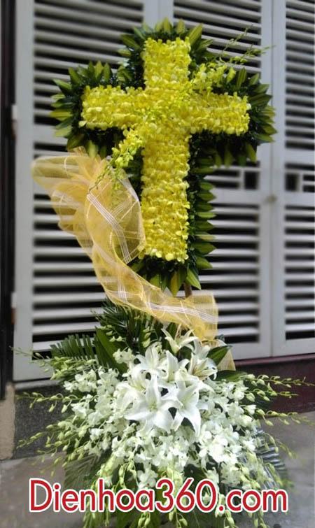 Lãng hoa viếng đám tang người theo đạo THIÊN CHÚA