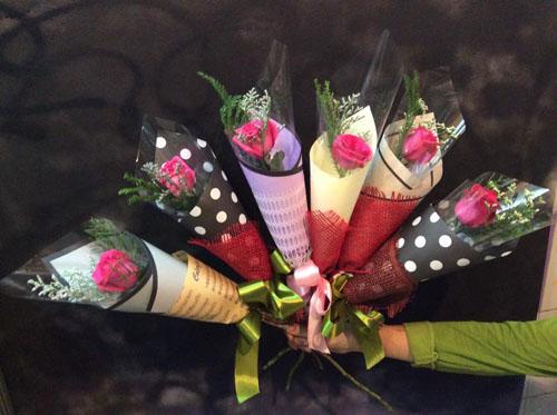 39 Mẫu bó hoa 1 bông đẹp sang trọng