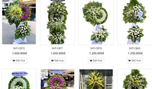 Hoa tang lễ được ưa chuộng nhất khi gửi chia buồn