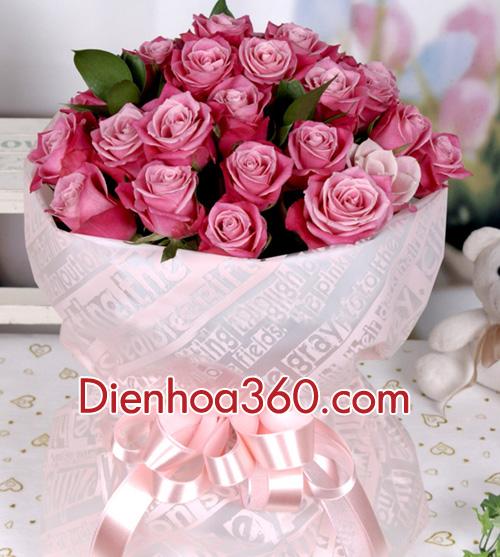Ý nghĩa hoa hồng tím khi tặng hoa