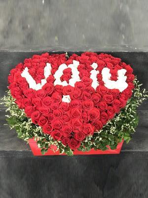 Giỏ tim hoa ính nhật đẹp nhất