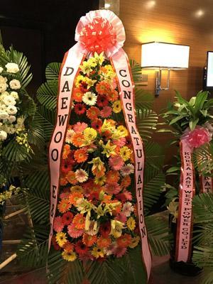 Hoa chúc mừng Hàn Quốc
