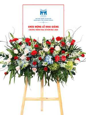 Hoa khai trương giá rẻ bảng hoa chúc mừng