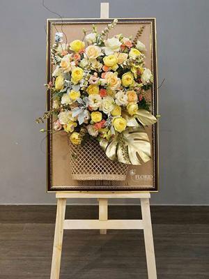 Kệ hoa giá vẽ lãng hoa khai trương