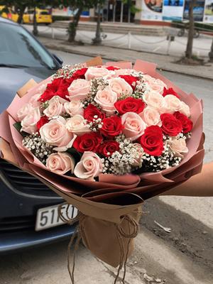 Hoa chúc mừng sinh nhật hoa hồng