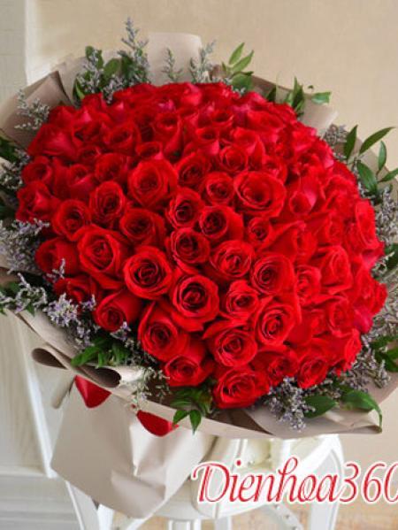 99 Đóa Hồng - bó hoa 100 bông